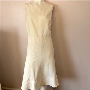 Sharagano plus size off white midi fit & flare